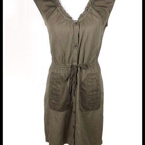 DKNY Jeans Button Front Design Dress